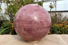 Large Rose Quartz sphere polished - 32.8 cm and circumference 103 cm - 47.4 kg