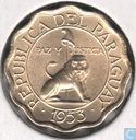 Paraguay 10 Centimo 1953