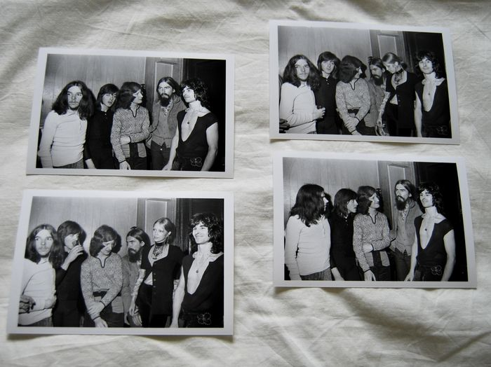 The Beatles, George Harrison, Badfinger, a set of four photos 1970