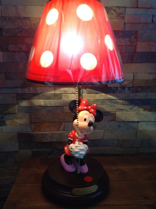 beautiful large vintage minnie mouse lamp 52 cm big. Black Bedroom Furniture Sets. Home Design Ideas