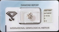 IGI Certified 2.14 ct brilliant-cut diamond G SI2