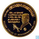 "Jordanië 50 dinars 1996 (PROOF) ""50 Years - Jordanian Independence"""