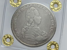 Grand-Duchy of Tuscany – 1/2 Francescone, 1777, Peter Leopold of Lorraine – silver