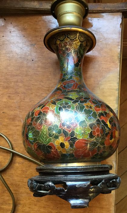 Cloisonné Lamp   Chinese   2nd Half Of The Twentieth Century