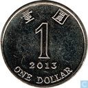 Hong Kong 1 dollar 2013