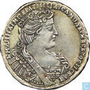 Russie 1/2 rouble 1733