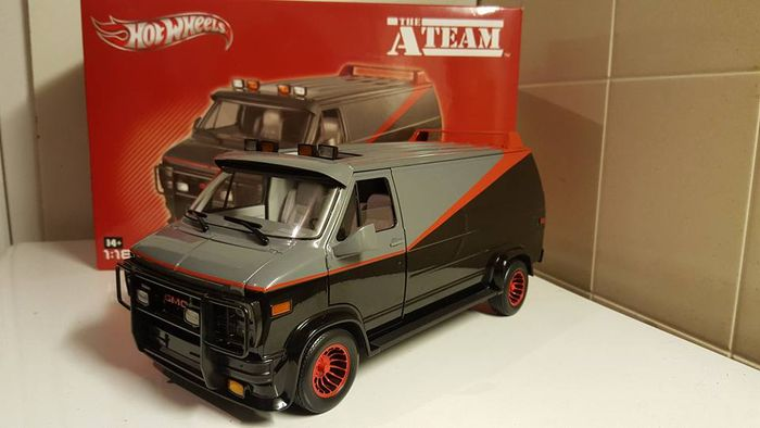 hotwheels scale 1 18 gmc vandura van a team 80 39 s tv. Black Bedroom Furniture Sets. Home Design Ideas