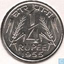 India ¼ rupee 1955 (Calcutta)