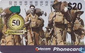 Phone cards - Telecom Australia - Troops - Courage