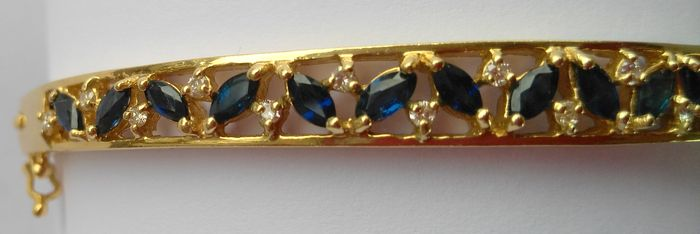 18 kt gold bracelet studded with 18 sapphires and 19 - Catalogo de galeria del coleccionista ...