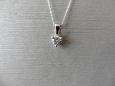 Platinum Diamond Pendant and 18k Gold Necklace - 0,50ct I, I1