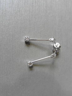 18k Gold Diamond Drop Earrings - 1ct I  SI2