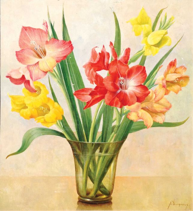 A Durieux Vase With Gladioli Catawiki