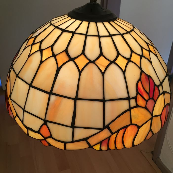 stained glass ceiling light. Hand Made Tiffany Style Stained Glass Ceiling Lamp Light N
