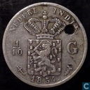 Dutch East Indies 1/10 gulden 1854