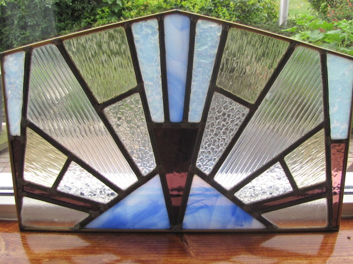 seven art deco stained glass windows in a copper frame catawiki