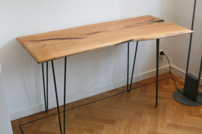 Side Table Bureau.Eef Design Bureau Side Table Op Vintage Hairpin Poten Catawiki