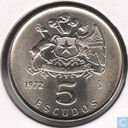 Chile 5 escudos 1972 (copper-nickel)
