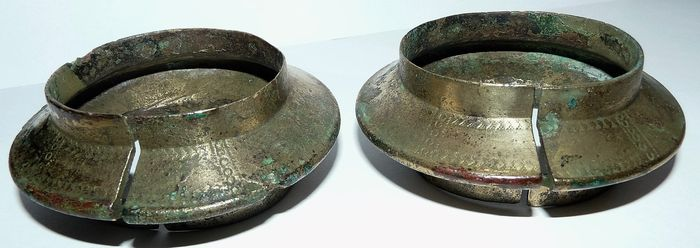 1 pair of bronze Viking arm bands (military) - 90 mm (2)