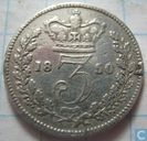 United Kingdom 3 pence 1850