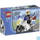 Lego 7235-2 Police Motorcycle Blue Sticker