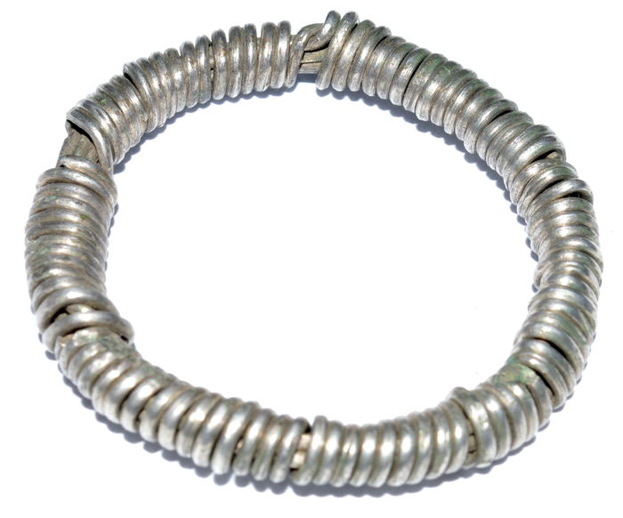 """Large Early medieval solid silver Viking twisted """"Knot"""" ring - 30 mm / 11 grams"""