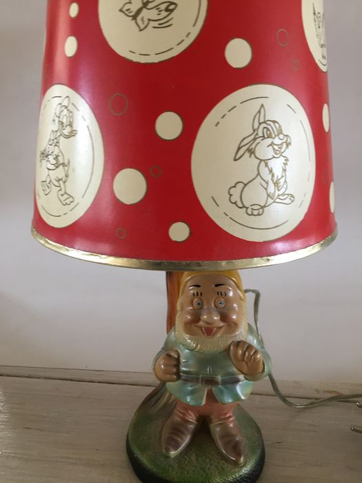 Walt disney lamp with dwarf from snow white and shade with a lot walt disney lamp with dwarf from snow white and shade with a lot of leading mozeypictures Images