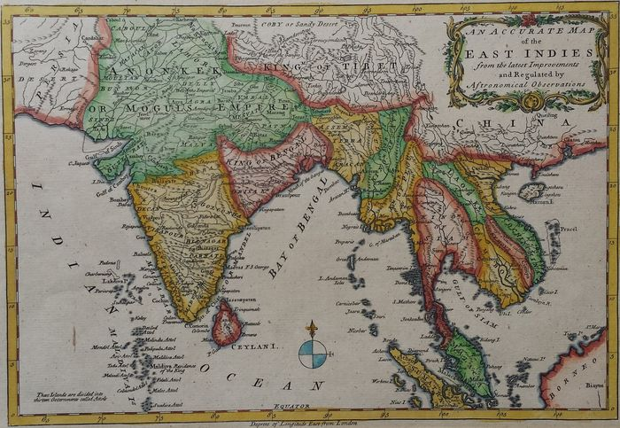 South East Asia India Ct Middleton An Accurate Map Of The East