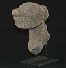 "Stone Jaguar Head - 9-1/2""."