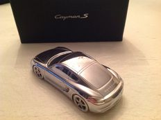 Porsche Cayman S - Solid aluminium paperweight, in original box - Scale 1/43