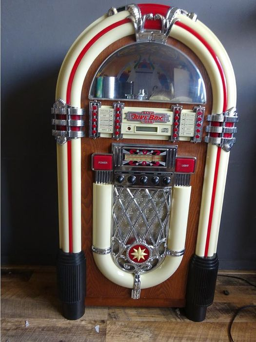 big baby juke box 1946 wood plastic metal catawiki. Black Bedroom Furniture Sets. Home Design Ideas