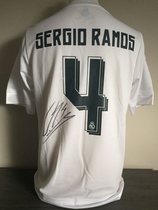 76e3c249d7d Hand signed Real Madrid home shirt 2015-2016 Sergio Ramos + photo signing  session +