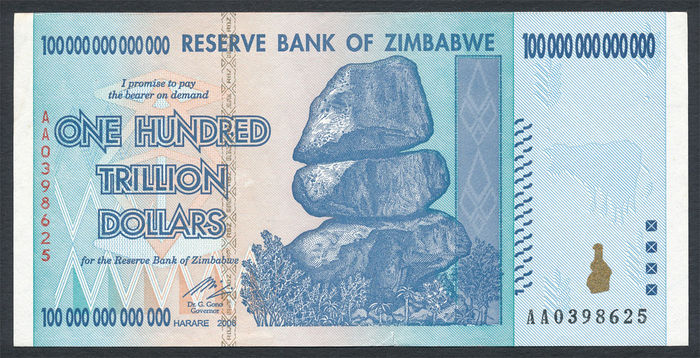 Zimbabwe - One Hundred Trillion Dollars 2008 - Pick 91