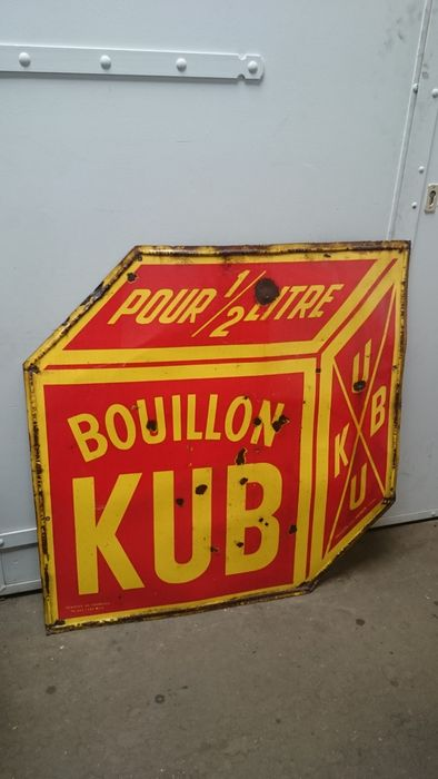 French KUB bouillon antique sign