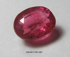Pinkish-Red Sapphire of 1.65 ct