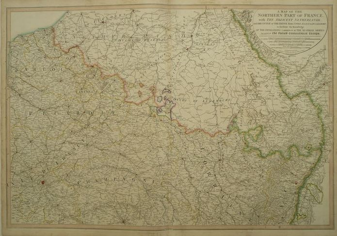 Map Of France Belgium And Luxembourg.France Belgium Luxembourg Germany W Faden A Map Of The