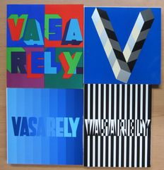 Vasarely - Volume 1, 2, 3 and 4 - complete set of 4 volumes 1965/1973
