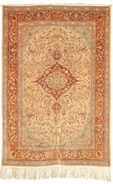 Genuine Turkish Hereke silk carpet