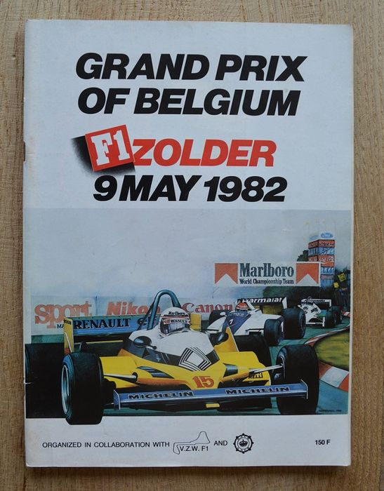 formule 1 programme livret officiel de f1 grand prix de belgique 1982 zolder catawiki. Black Bedroom Furniture Sets. Home Design Ideas