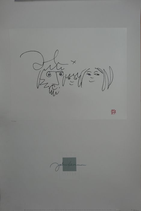 Limited Edition numbered 710 /3000 John Lennon Limited litho print ( The Family )