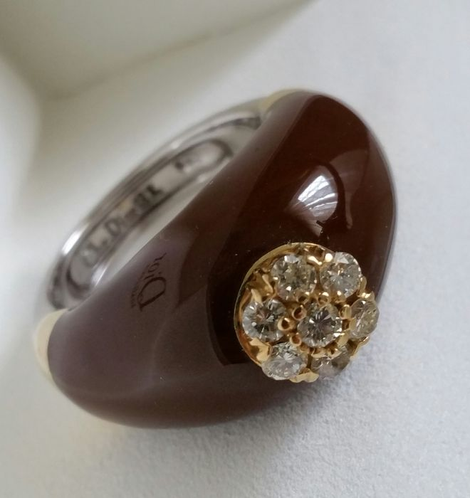 "Christian Dior – ""Trombino"" ring –1980s – size 12.5 / 52.5"
