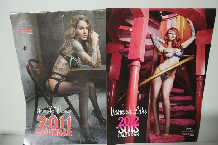 Lot of 2 pin up tattoo calendars, 21 Tattoo Magazines - TOTAL energy ...