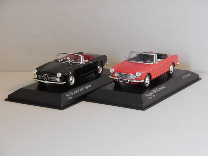 Minichamps Scale 143 Lot With 2 Models Alfa Romeo 2600 Spider