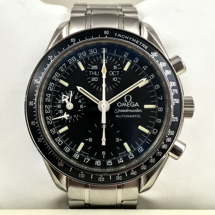 omega triple calendar speedmaster herren chronograph mit. Black Bedroom Furniture Sets. Home Design Ideas