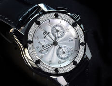 Reloj de pulsera para mujer Meyers Lady Beach Chrono, con 120 diamantes