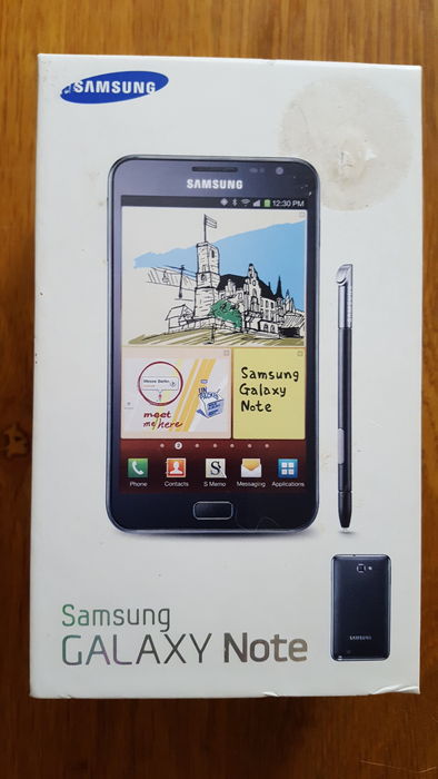 Goede Samsungs first Galaxy Note GT-N7000 in Original Box - Collectors PA-34