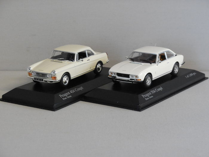 Minichamps Scale 1 43 Lot With 2 Models Peugeot 404 Coupe And