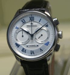 DREYFUSS chronograph – wristwatch, never worn – 2015