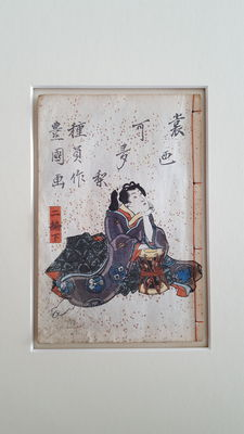 Woodcut novel by Utagawa Kunisada (Toyokuni III, 1786-1865) – Japan – around 1850