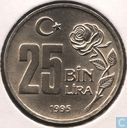 "Turkey 25 bin lira 1995 ""Environmental protection"""